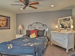 You'll look forward to sleeping in the plush queen bed night after night.