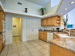 Fully equipped, this kitchen has everything you need to cook your all favorite dinners and desserts.