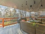 Sip coffee or a refreshing beverage on the shared deck as you watch the sun rise and set each day.