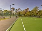 Challenge your travel companions to a game of tennis on one of 10 courts!