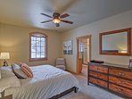 This bedroom also offers a plush king bed.