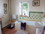 The bathroom in Hornstone Cottage