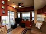 Living room with a water view!