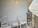 Sit out on the private balcony to get some fresh air.