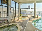 No matter the weather, you're sure to enjoy the indoor hot tubs and pool.