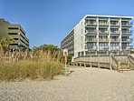 Guests have easy access to the beach.