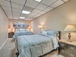 The master bedroom provides a queen bed and full bed for night's of peaceful rest.