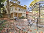 Enjoy a secluded getaway at this Stone Mountain vacation rental apartment with a private, garden-level entrance.