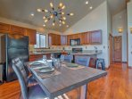 The dining space opens to the kitchen, creating a great entertaining space.