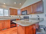 The chefs in your group will be happy to prepare meals in this fully equipped kitchen.