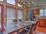 Enjoy home-cooked meals in front of the windows that provide fabulous views of the great outdoors.