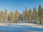 Enjoy hiking, skiing, snowmobiling, mountain biking, and fishing during your stay!