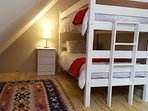 Loft room with bunk bed suitable for 2 kids