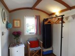 The beach hut has everything you need to use as and extra bedroom for your stay - even a hairdryer !