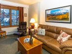 Bright inviting condo with views of Base Area Village