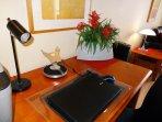 Desk with WiFi Printer