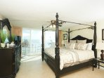 Master bedroom #1 with king bed, LCD TV, spacious balcony and hot tub room