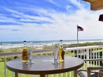 Enjoy a drink from one of your two direct oceanfront balconies.