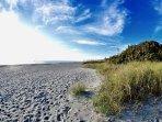 Miles of white sand beaches.
