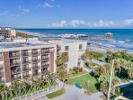 Chateau by the Sea is just steps to the famous Cocoa Beach Pier.