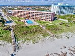 Cocoa Beach Towers is located directly ON the beach.