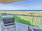Enjoy stunning ocean views from one of your two direct oceanfront balconies.