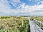 Boardwalk to the beach.