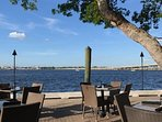 View of the Manatee River and Green Bridge from the Pier 22 Restaurant Deck a block away!