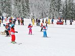 The ski resort Hasliberg also has a ski school, with group classes for children