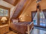 bedroom 1- queen, upstairs, master