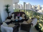 Our lovely balcony offering amazing views of the surrounding areas.