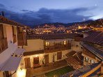The view of Cusco from the entrance of the apartment (on the left the balcony of the apartment)