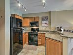 Prepare hearty meals in the fully equipped kitchen.