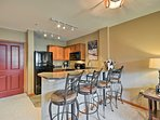 Pull up a seat to the eat-in bar to enjoy meals with the group.