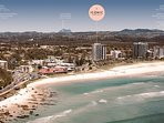 Across the road from the famous Kirra Beach in Coolangatta