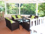 Outside Terrace and bar. Completely private and tranquil