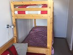One of the rooms with bunk beds
