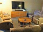 65 inch smart TV in Walkout basement area