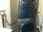 Laundry facilities in walkout basement