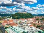 Slovenia's capital Ljubljana is a 40 minute drive from the apartment.