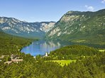 Lake Bohinj is a 40 minute drive from the apartment.
