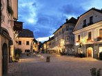 Radovljica's medieval old town is a 10 minute drive from the apartment.