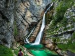 Savica Waterfall is a 45 minute drive from the apartment (+ a 20 minute hike).