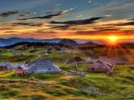 Velika Planina is a 55 minute drive from the apartment.