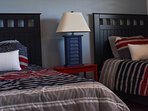 Comfortable twin beds for the guest bedroom