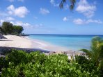 Fabulous beach just across the road from Mangoes. A 2 minute walk will bring you here.