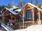 Snow frosted Bridger's Cache Ski Lodge