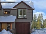 End unit townhome with private garage