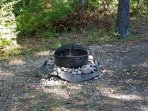 outdoor fire pit for roasting hotdogs or making smores