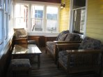 A heated, three-season porch is a perfect place to relax after exploring.